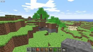 マインクラフト(Minecraft)クラシック版のゲーム画面