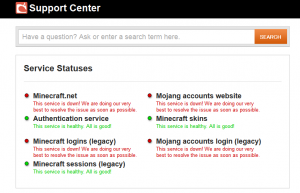 Mojang  Support Center
